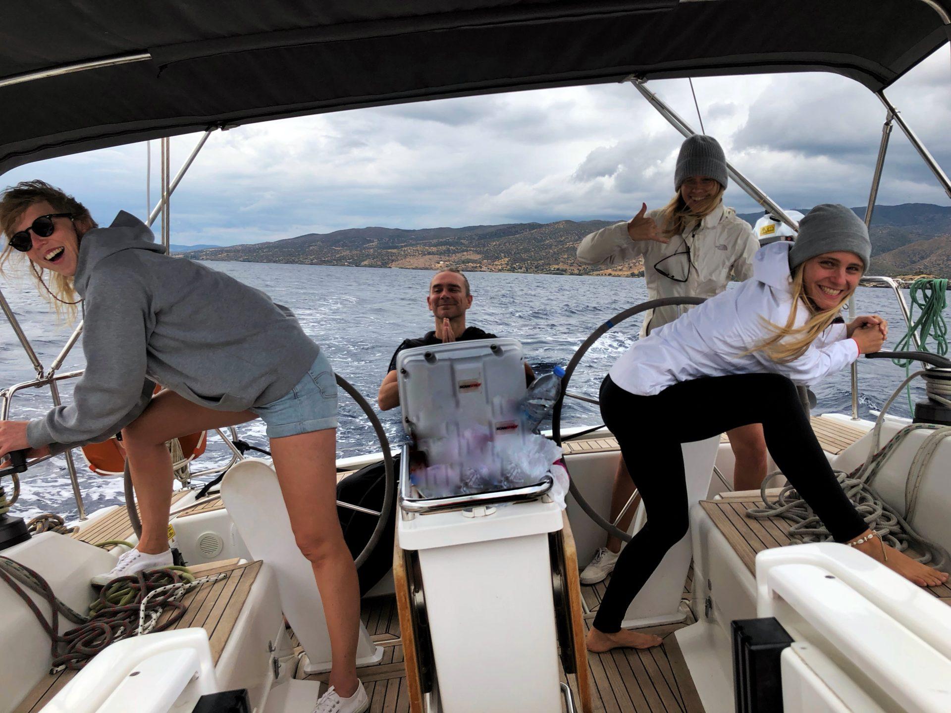 Funboot beim Skippertraining in Griechenland über Ostern