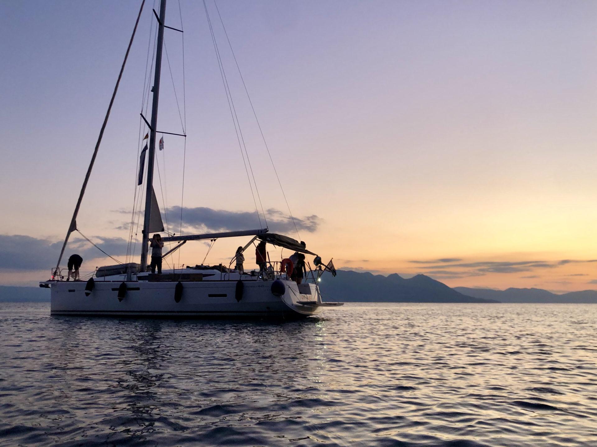 Sebastians Urlaubsboot beim Skippertraining